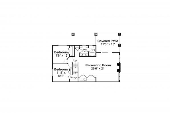 Traditional Home Plan - Pine Valley 31-159 - Basement