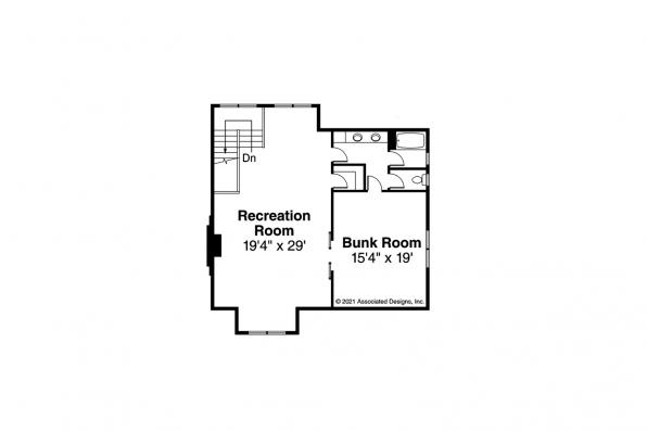2 Story House Plan - Wind River 31-241 - Second Floor Plan