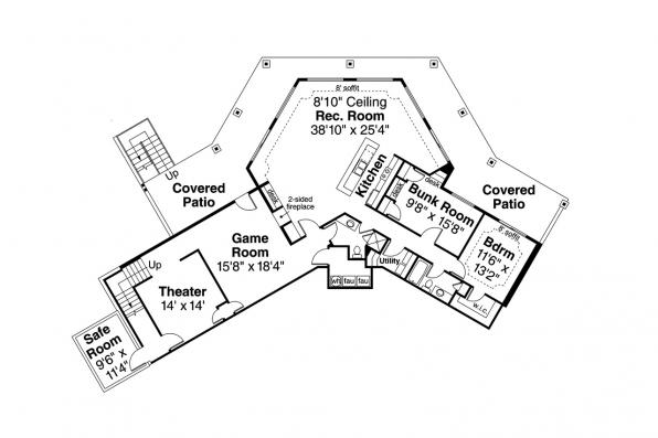 House Plan with Walk-Out Basement - Williamsburg 11-147 - Lower Floor Plan
