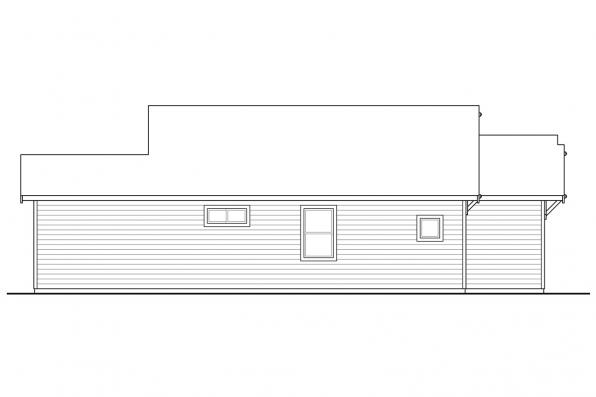 1-Story House Plan - Klickitat 31-129 - Left Elevation