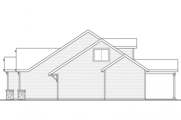 1 Story House Plan - Azalea 31-028 - Left Elevation