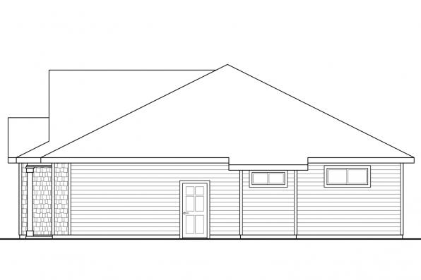 1 Story House Plan - Eastgate 31-047 - Right Elevation