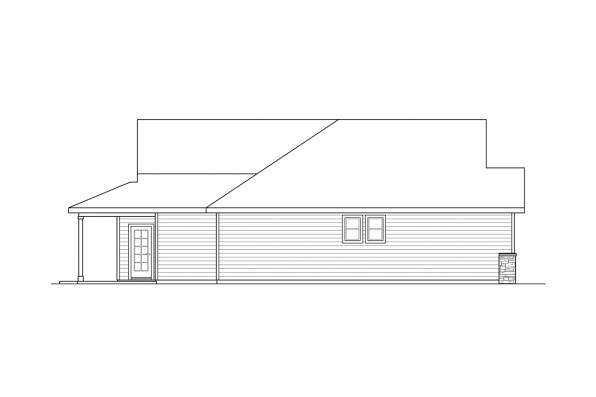 1 Story House Plan - Hyacinth 31-094 - Left Elevation