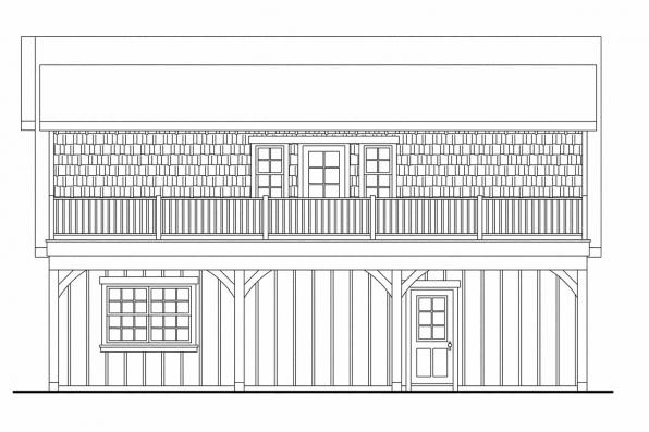 2 Story Garage Plan 20-061 - Right Elevation
