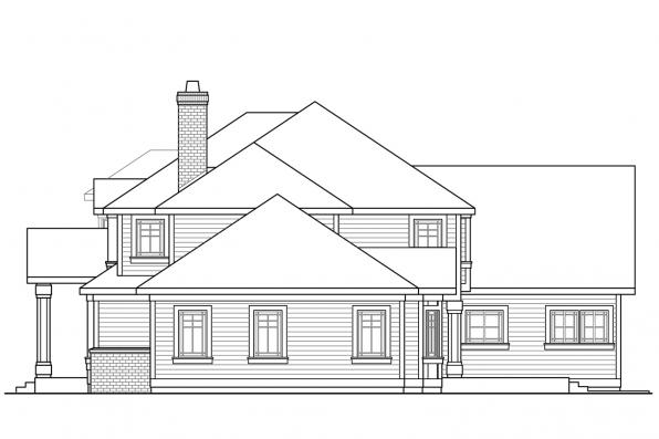 2 Story House Plan - Masonville 30-935 - Right Elevation