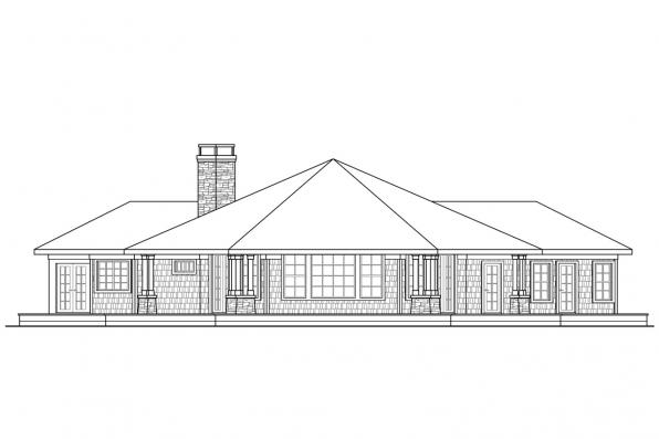 Shingle Style House Plan - Eddinger 30-328 - Right Elevation