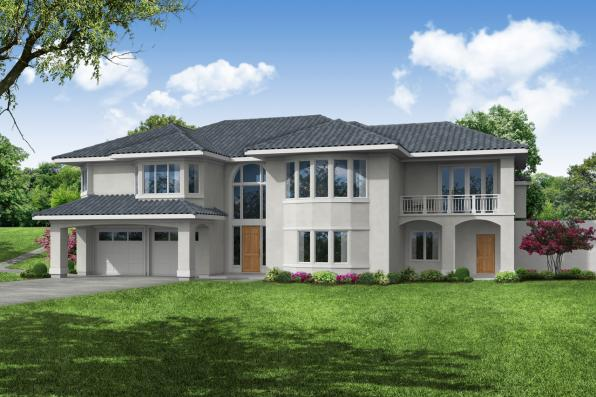Southwest House Plan - Stratton 31-184 - Front Elevation