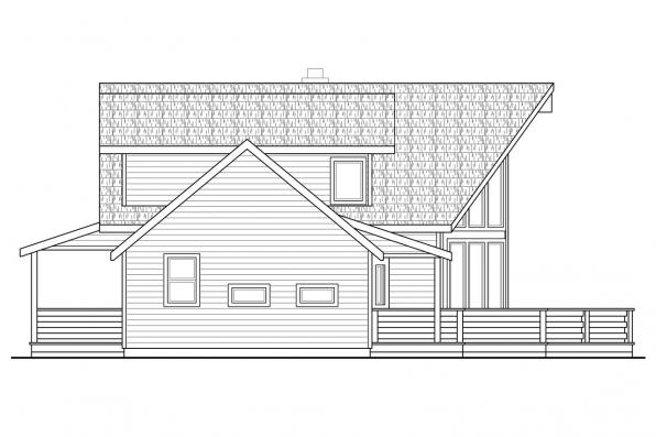A-Frame House Plan - Alpenview 31-003 - Left Elevation