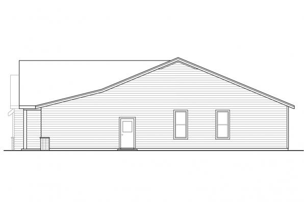 Builder House Plan - Meadowlark 31-164 - Right Elevation