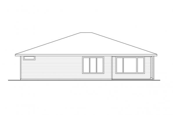 Contemporary House Design - Chicory 31-169 - Rear Elevation