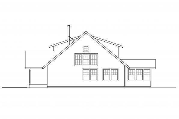 Cottage House Design - Laverne 30-744 - Right Elevation