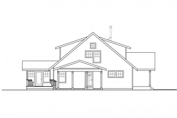 Cottage Style Home Plan - Laverne 30-744 - Left Elevation