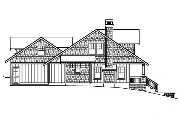 Bungalow House Plan - Carrington 30-360 - Left Elevation