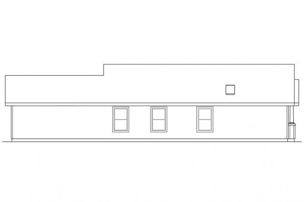 Bungalow House Plan - Cleveland 30-105 - Left Elevation