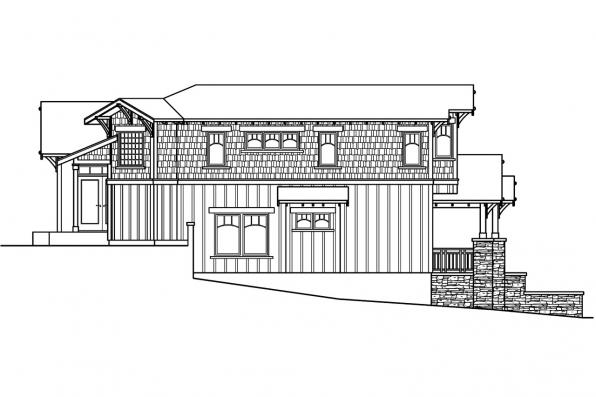 Bungalow House Plan - Kelseyville 30-476 - Left Elevation