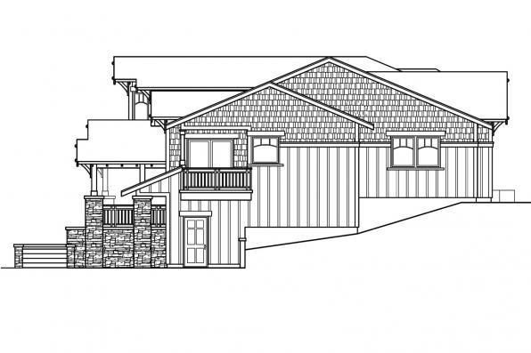 Bungalow House Plan - Kelseyville 30-476 - Right Elevation