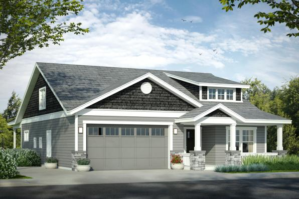 Bungalow House Plan - Nantucket 31-027 - Front Elevation