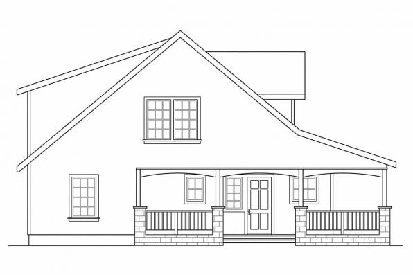 Bungalow House Plan - Tupelo 60-006 - Left Elevation