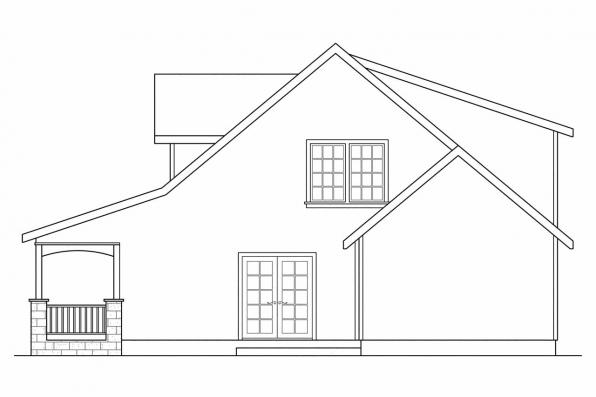 Bungalow House Plan - Tupelo 60-006 - Right Elevation