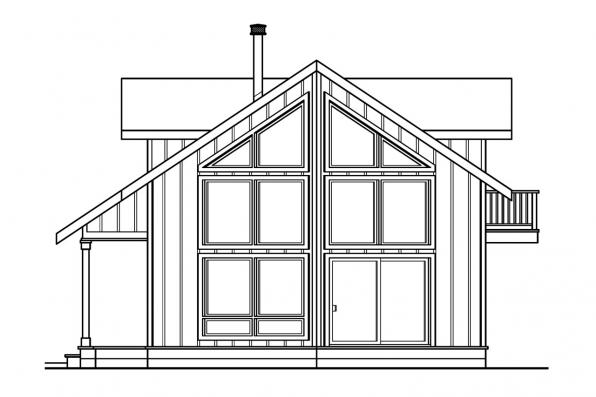 Cabin Plan - Arnett 30-419 - Rear Elevation