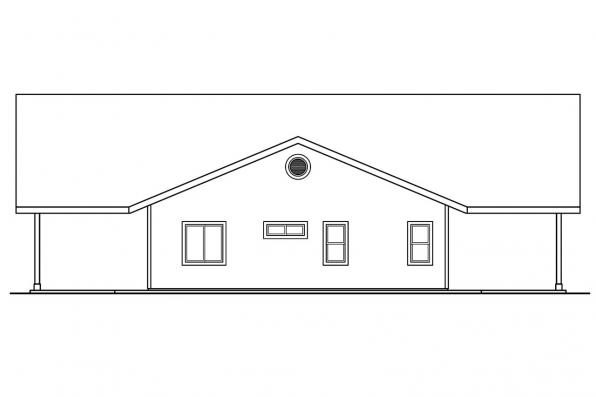 Cabin Plan - Ottawa 30-601 - Left Elevation