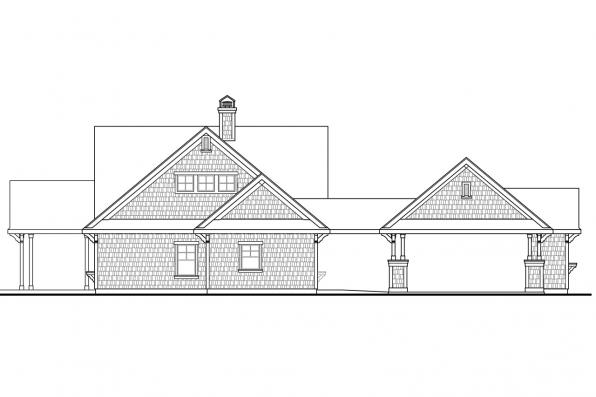 Cape Cod House Plan - Longview 50-014 - Right Elevation