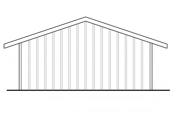 Carport Design 20-094 - Rear Elevation