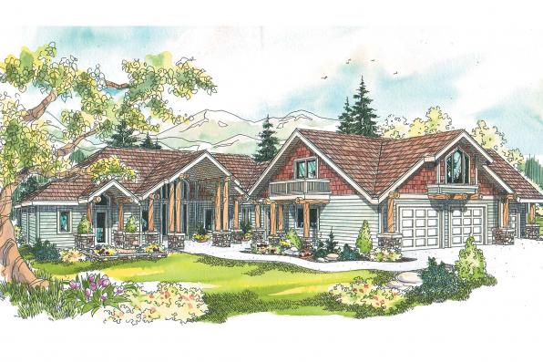 Chalet House Plan - Missoula 30-595 - Front Elevation