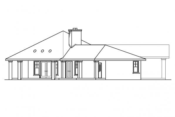 Chateau House Plan - Aberdeen 10-428 - Left Elevation