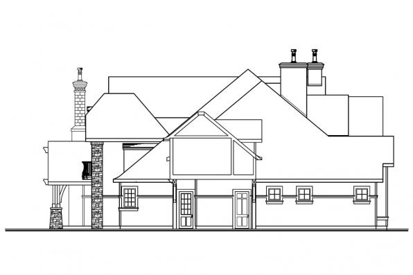 Chateau House Plan - Chesterton 30-649 - Right Elevation