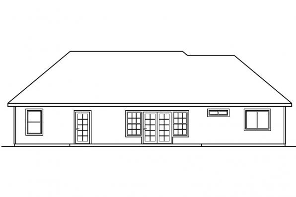 Classic Home Plan - Willcox 30-232 - Rear Elevation
