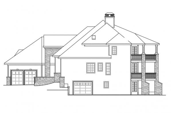 Classic House Plan - Addison 30-795 - Right Elevation