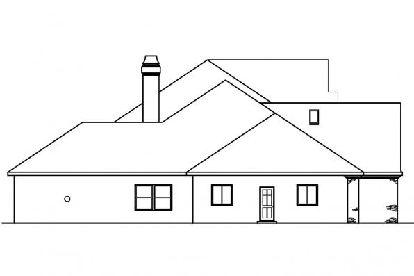 Classic House Plan - Avalon 30-306 - Left Elevation