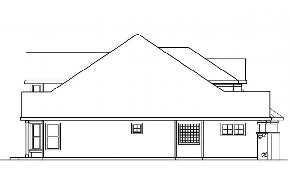 Classic House Plan - Balentine 30-340 - Left Elevation