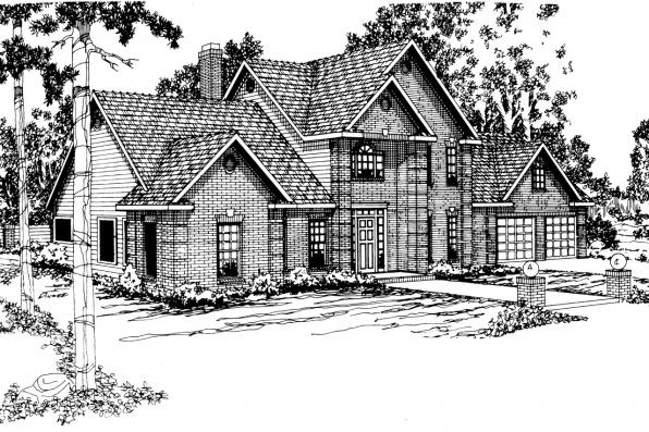 Classic House Plan - Greenville 30-028 - Front Elevation