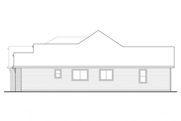Classic House Plan - Lupine 30-747 - Right Elevation