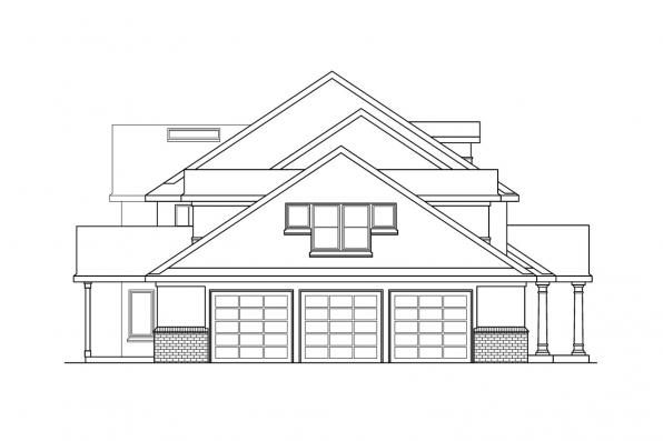 Classic House Plan - Roxbury 30-187 - Left Elevation