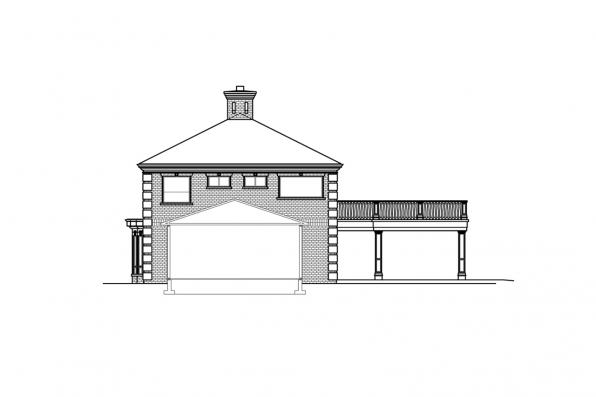 Colonial Home Plan - Westchester 31-167 - Left Elevation