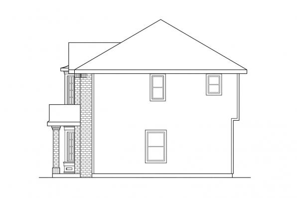 Colonial House Plan - Ashwood 30-092 - Right Elevation