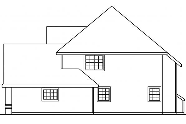 Colonial House Plan - Coleridge 30-251 - Right Elevation