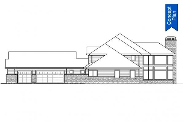 Luxury Concept Plan - Springhill 31-232 - Right Elevation