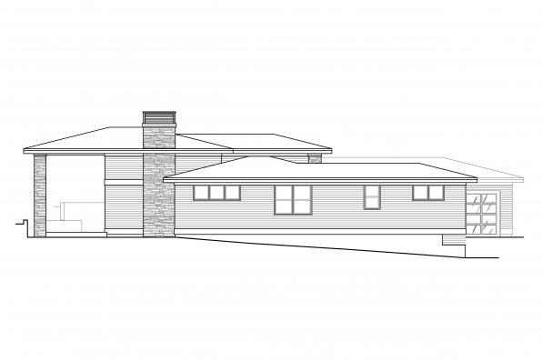 Contemporary Home Design Hemlock 31-157 - Left Elevation