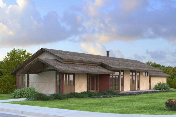 Contemporary House Plan - Covina 30-985 - Front Elevation
