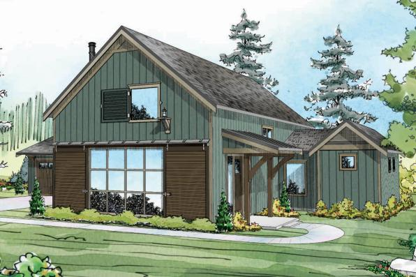 Contemporary House Plan - Fairheart 10-600 - Front Elevation