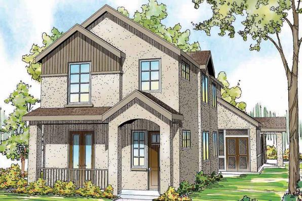 Contemporary House Plan - Goldenheart 10-580 - Front Elevation