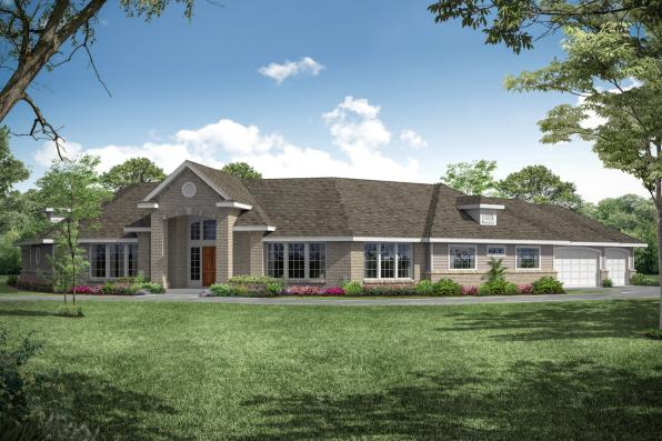 Contemporary House Plan - Hawthorne 30-054 - Front Elevation