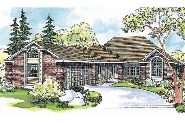 Contemporary House Plan - Norwich 30-175 - Front Elevation