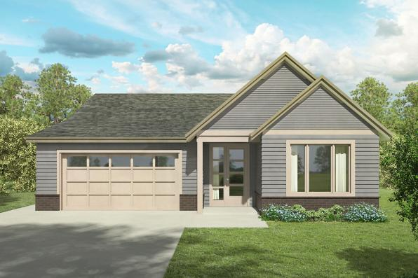 Contemporary House Plan - Peyette 31-215 - Front Elevation