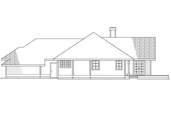 Contemporary House Plan - Raleigh 10-002 - Right Elevation
