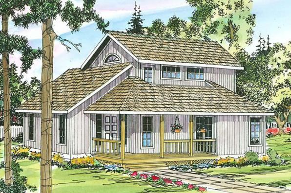 Contemporary House Plan - Riverview 51-003 - Front Elevation